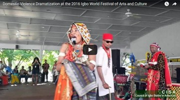 Domestic Violence Dramatization at the 2016 Igbo World Festival