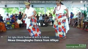 Nkwa Umuagbogho Dance Featured at the 2016 Igbo World Festival