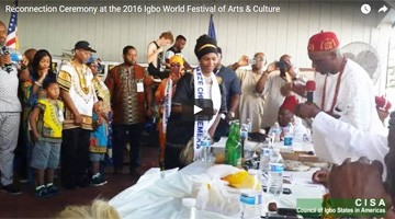 Watch the Reconnection Ceremony at the 2016 Igbo World Festival
