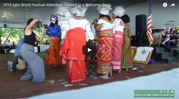 2016 Igbo World Festival Attendees Treated to a Welcome Song