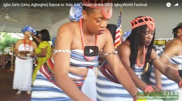 Igbo Girls (Umu Agbogho) Dance at the 2016 Igbo World Festival