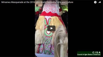 Mmanwu Masquerade Featured at 2016 Igbo World Festival