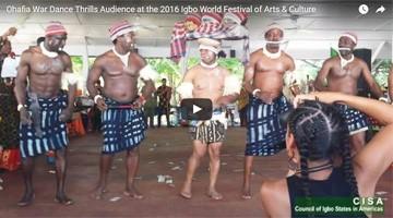 Ohafia War Dance Thrills Attendees at the 2016 Igbo World Festival