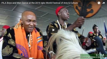 PILA Boys and Men Dance at the 2016 Igbo World Festival