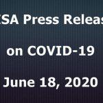 CISA Press Release on COVID-19; June 18, 2020